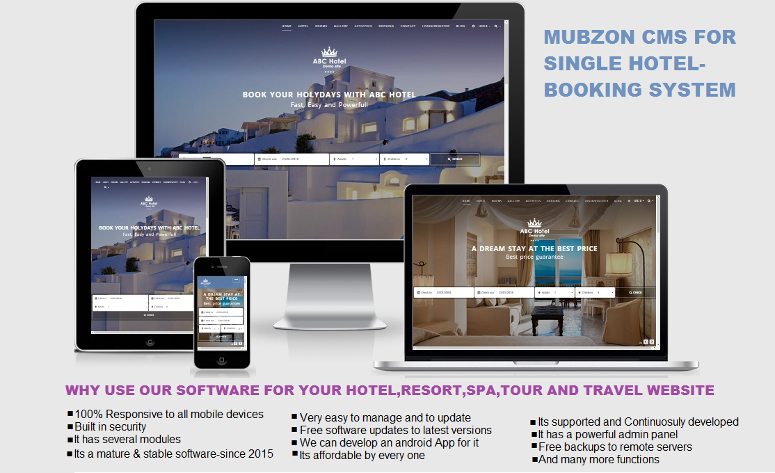 Mubzon CMS for single hotels